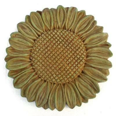 Cast Stone Sunflower Stepstone Weathered Bronze