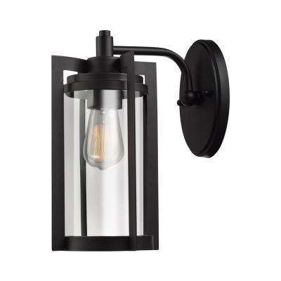 Theo 1-Light Dark Bronze Outdoor Wall Mount Sconce