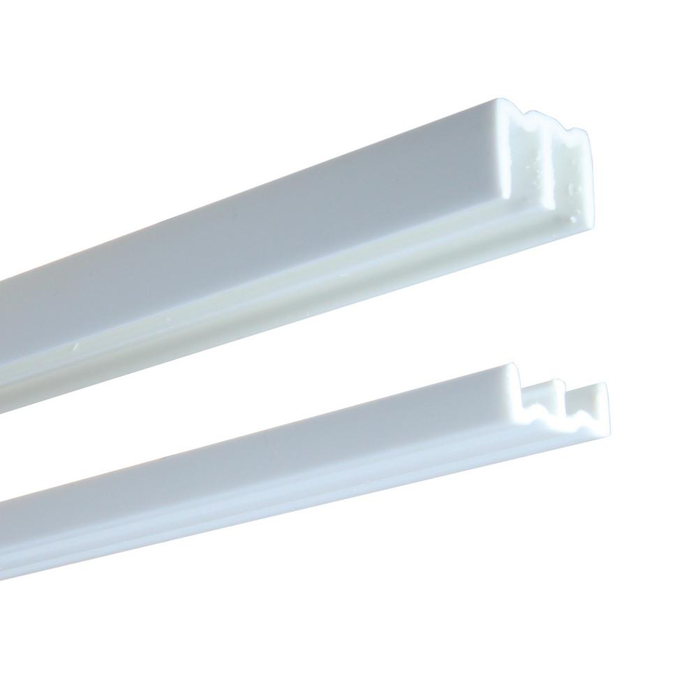 2417 Series 48 in. White Plastic Door Track Assembly