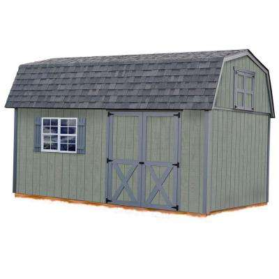 Meadowbrook 10 ft. x 16 ft. Wood Storage Shed Kit