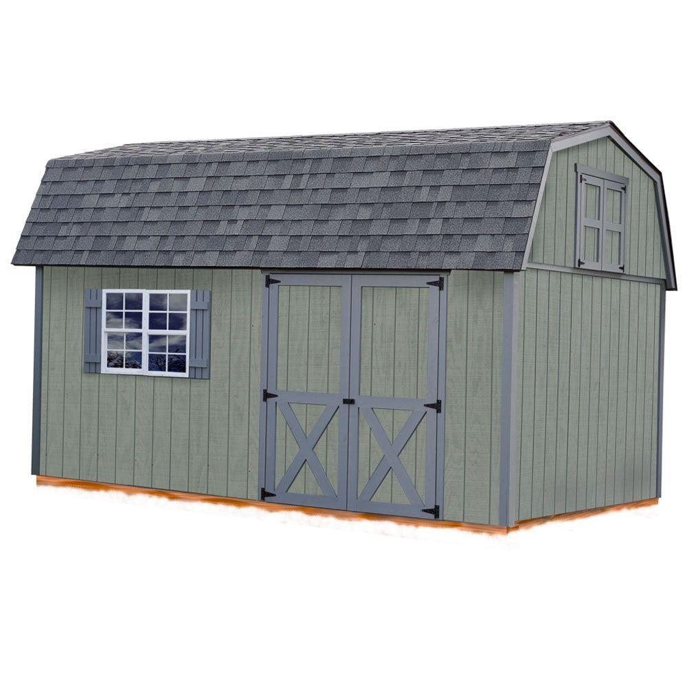 Meadowbrook 10 ft. x 16 ft. Wood Storage Shed Kit