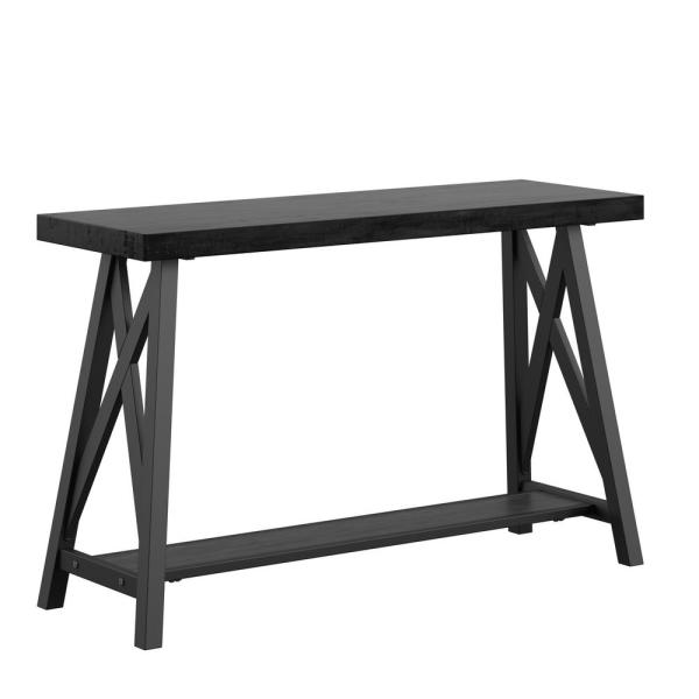 Black Sofa Table with Shelf