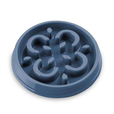 Slow Chow Medallion Small Feeder in Indigo