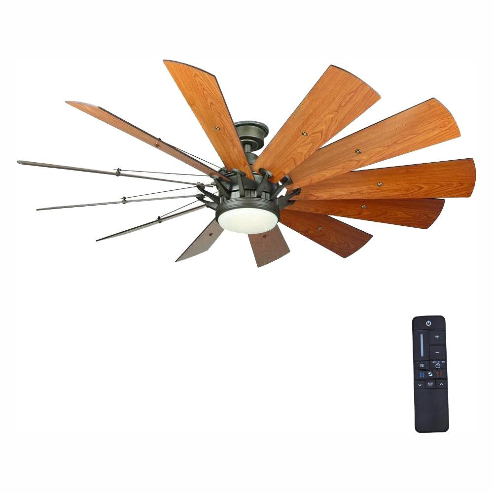 Home Decorators Collection Trudeau 60 in. LED Indoor Espresso Bronze Ceiling Fan with Light Kit and Remote Control