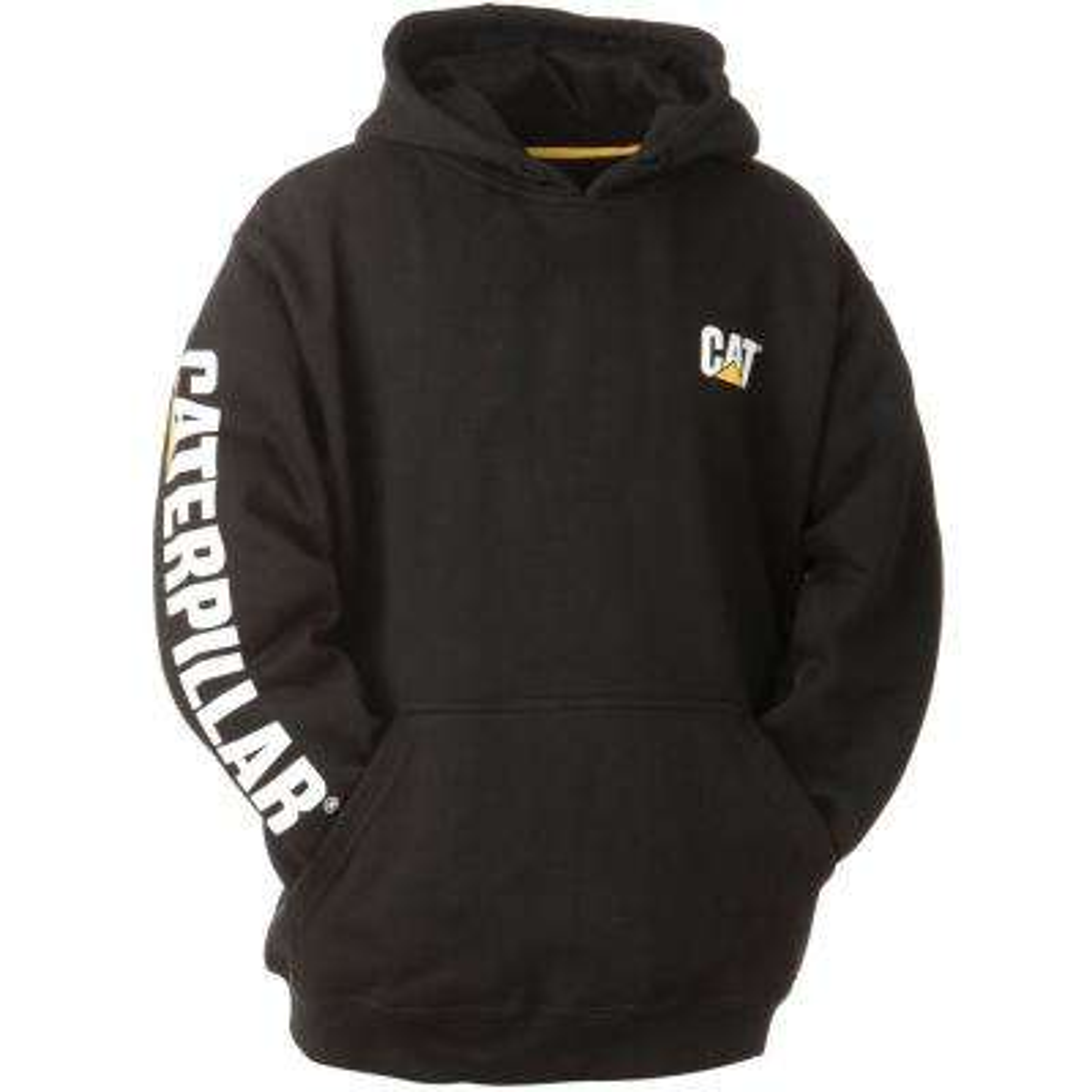 Trademark Banner Men's Large Black Cotton/Polyester Hooded Sweatshirt