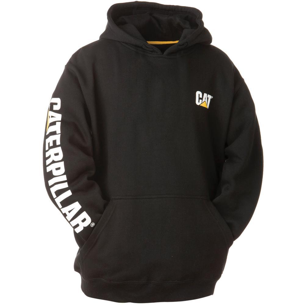 Trademark Banner Men's Small Black Cotton/Polyester Hooded Sweatshirt