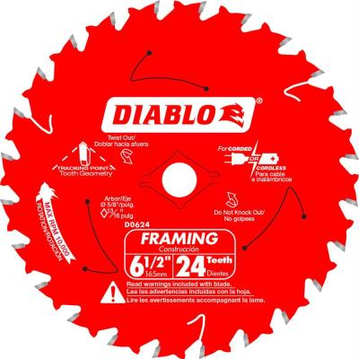 6-1/2 in. x 24-Teeth Framing Saw Blade