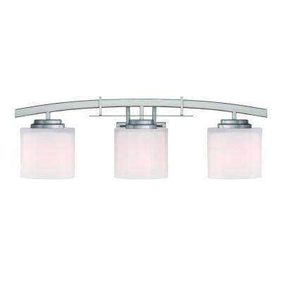 Architecture 3-Light Brushed Nickel Vanity Light