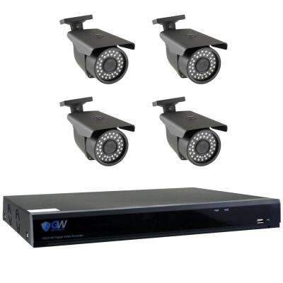 8 Channel HD-Coaxial 5MP Security Surveillance System 4 Bullet Cameras 2.8 mm - 12 mm Lens 98 ft. IR and 2TB HDD