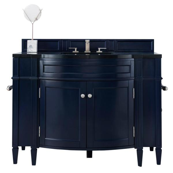 Brittany 46 in. W x 33 in. H Single Bath Vanity Cabinet Only (Top not Included) in Victory Blue