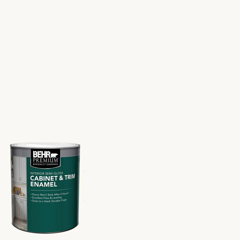 1 qt. Ultra Pure White Base Semi-Gloss Interior Cabinet and Trim Paint
