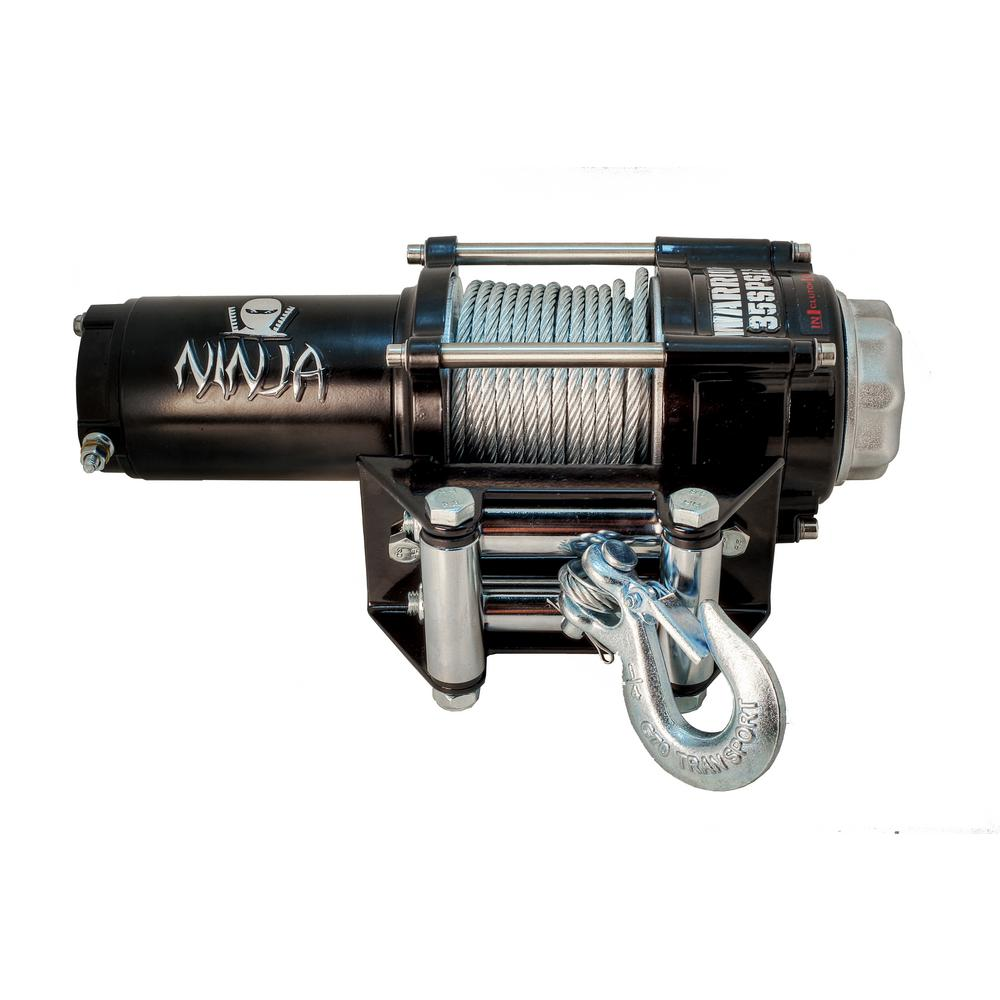 Capacity 12-Volt Electric Winch for ATV/UTVs