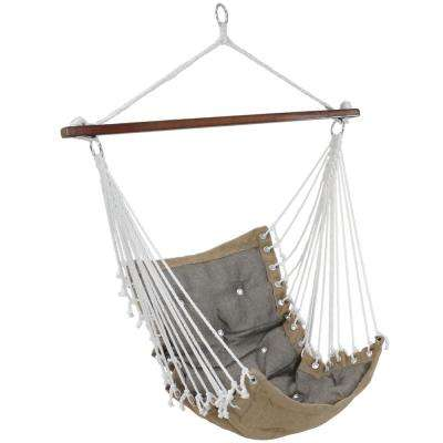 3.5 ft. Fabric Tufted Victorian Hammock Swing in Gray