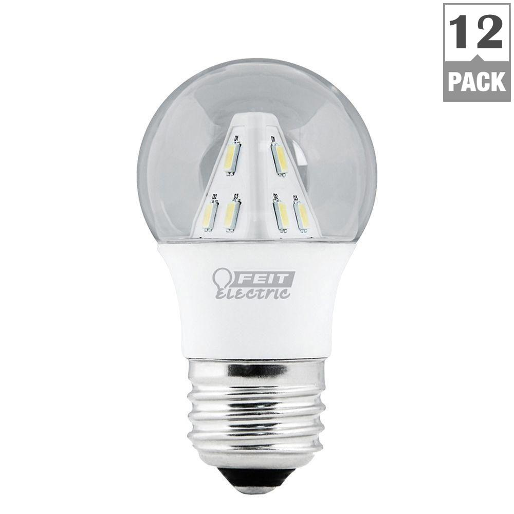 Feit Electric 25W Equivalent Soft White (3000K) A15 LED Clear Light Bulb (12-Pack)