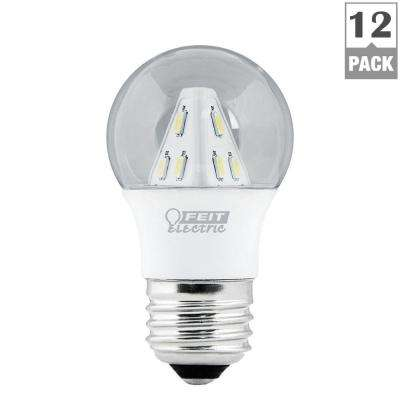 25W Equivalent Soft White (3000K) A15 Clear LED Light Bulb (12-Pack)