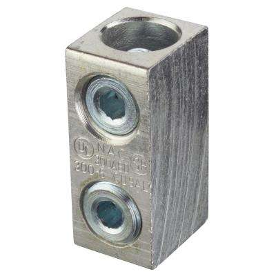 Dual Rated Splicer Reducer 250KCMIL to #6 Stranded with Solid Barrier Wire Stop (Case of 10)
