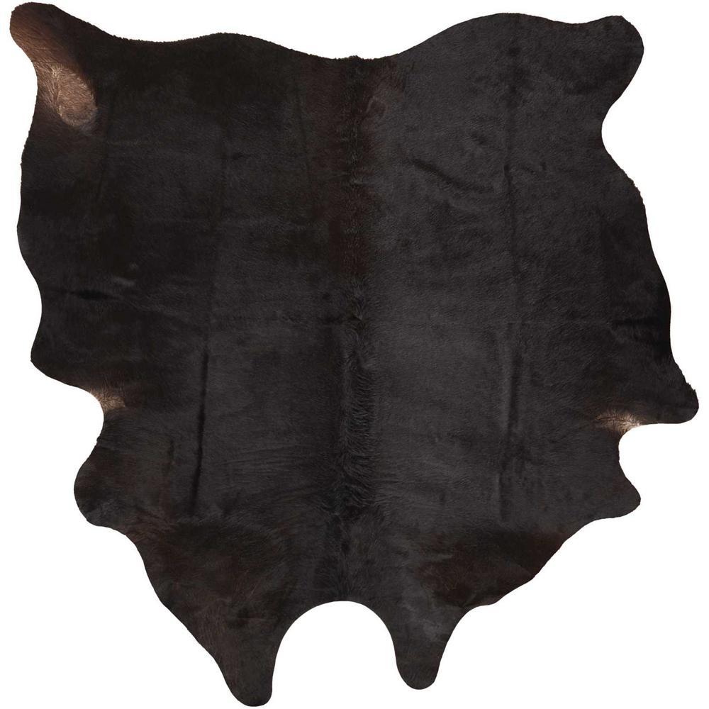 Free Shape Hide Dark Brown 4 ft. 6 in. x 5 ft. 6 in. Area Rug