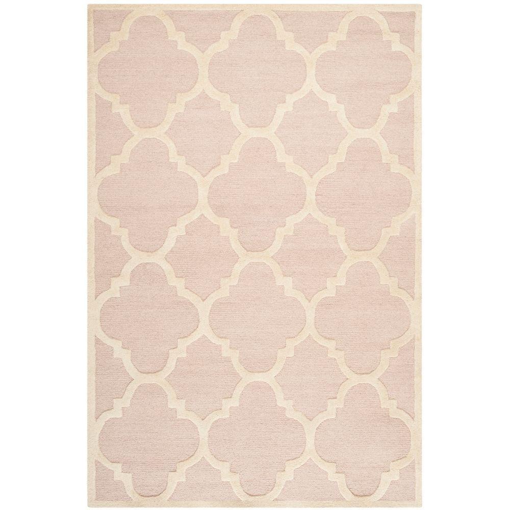 Safavieh Cambridge Light Pink Ivory 6 Ft X 9 Ft Area Rug