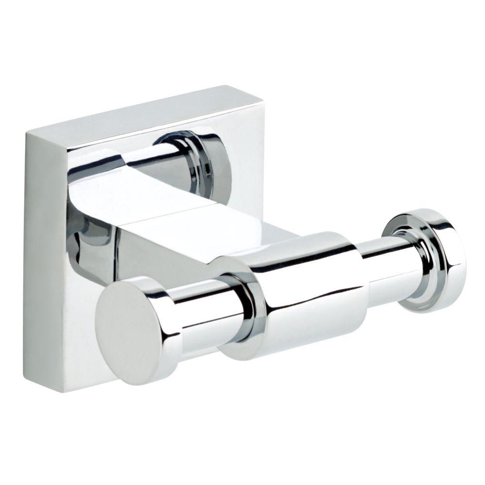 Maxted Double Towel Hook in Polished Chrome