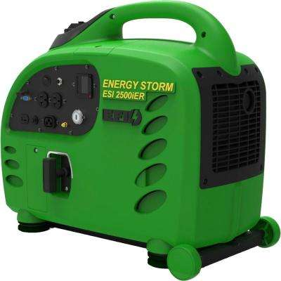Energy Storm 2,500/2,400-Watt Gas Powered Electric/Remote Start Portable Inverter Generator (Electric Fuel Injected)