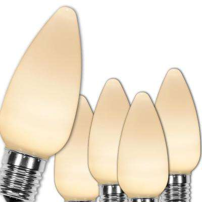 C9 LED Warm White Smooth/Opaque Christmas Light Bulbs (25-Pack)