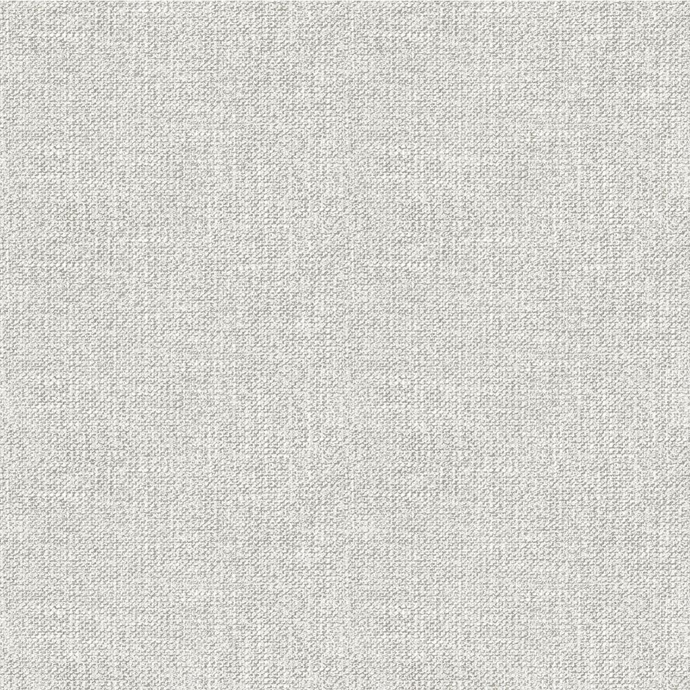 Waylon Light Grey Faux Fabric Wallpaper 56.4 sq. ft.
