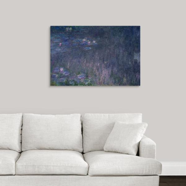 Greatbigcanvas Quot Waterlilies Reflections Of Trees Detail