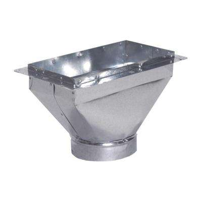 8 in. x 4 in. to 4 in. Register Box with Flange