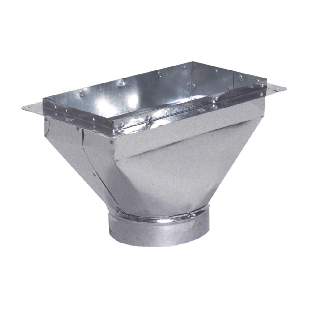 null 8 in. x 4 in. to 6 in. Register Box with Flange