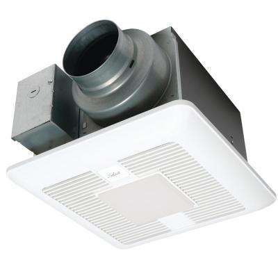 WhisperGreen Select Pick-A-Flow 50/80/110CFM Exhaust Fan-LED Light-multispeed- Flex-Z Fast bracket-4/6 in. duct adapter