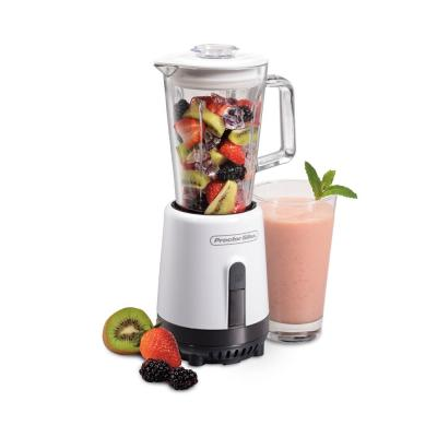 20 oz. Single Speed White Compact Blender with Glass Jar