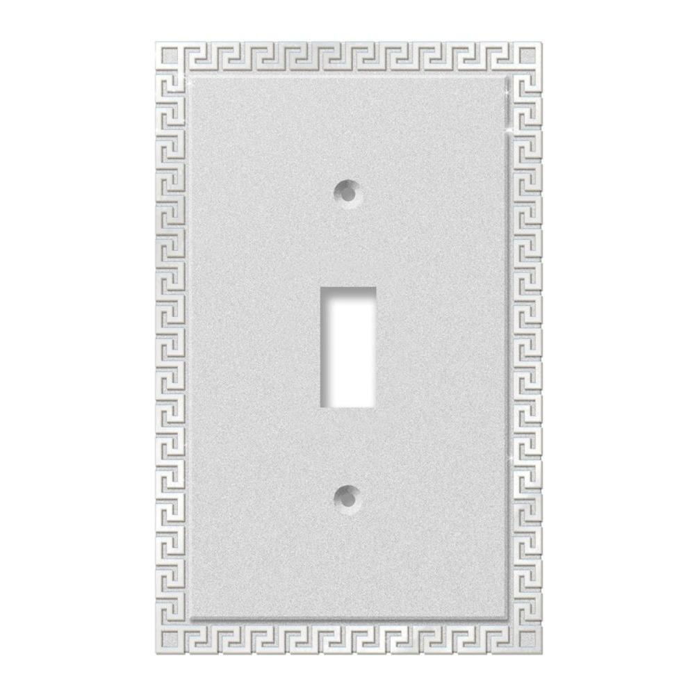Greek Key 1 Toggle Wall Plate - Chrome