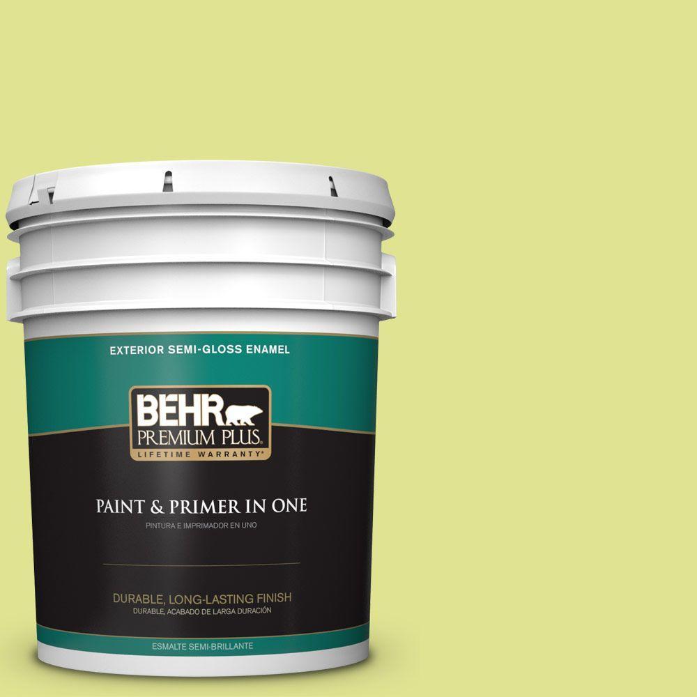 5-gal. #410A-3 Honeydew Semi-Gloss Enamel Exterior Paint