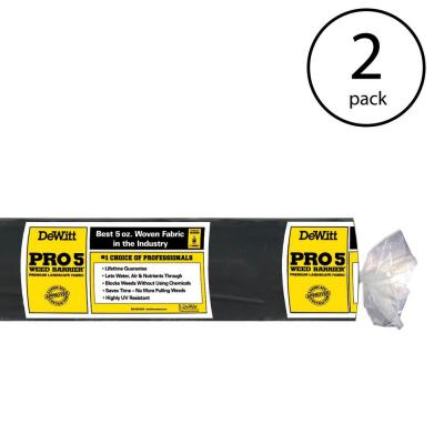 P3 3 ft. x 250 ft. 5 oz. Pro 5 Commercial Landscape Weed Barrier Fabric (2-Pack)