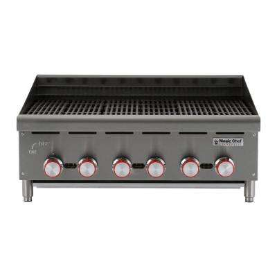 Commercial 36 in. Countertop Radiant Charbroiler