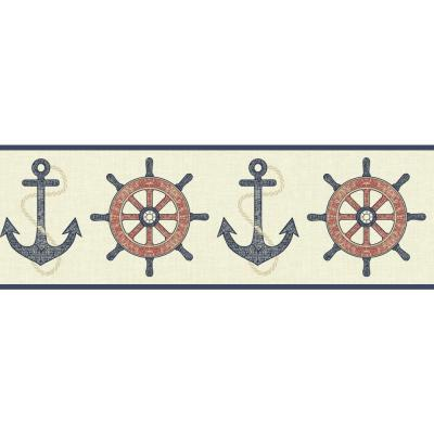 Nautical Living Nautical Spot Wallpaper Border