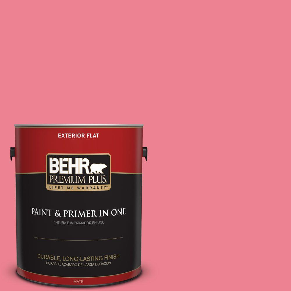 BEHR Premium Plus 1-gal. #130B-5 Bridesmaid Flat Exterior Paint