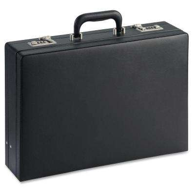12.5 in. x 17.5 in. x 4 in. Vinyl Document Carrying Case, Black