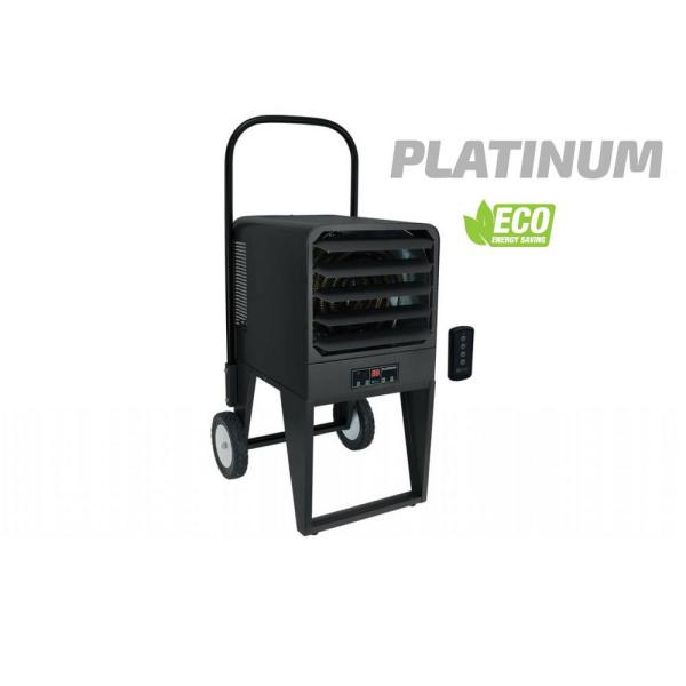 34121 BTU 12 Amp PKB Platinum 10000-Watt 480-Volt Portable Unit Heater Gray Electric (41-1/4 in. x 19 in. x 21-1/2 in.)
