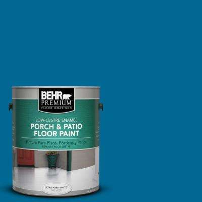 1 gal. #OSHA-1 OSHA SAFETY BLUE Low-Lustre Porch and Patio Floor Paint