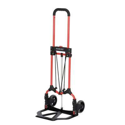 160 lb. Capacity MCI Steel Folding Hand Truck in Red