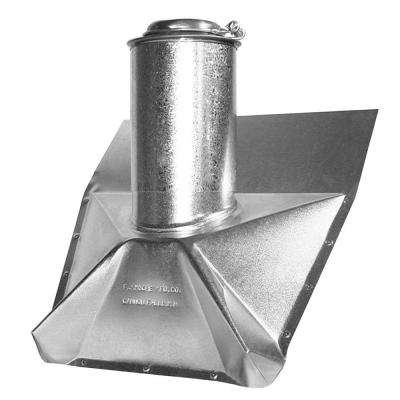 4 in. Galvanized Steel Vent Pipe Flashing