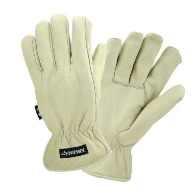 Water Resistant Leather Work Glove - Large