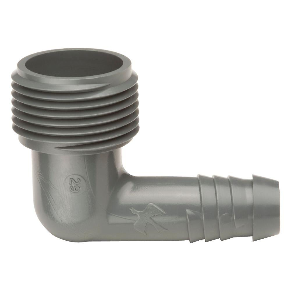 "25-1//2/"" Male Threaded X Barb 90 degrees Irrigation Elbow large package"