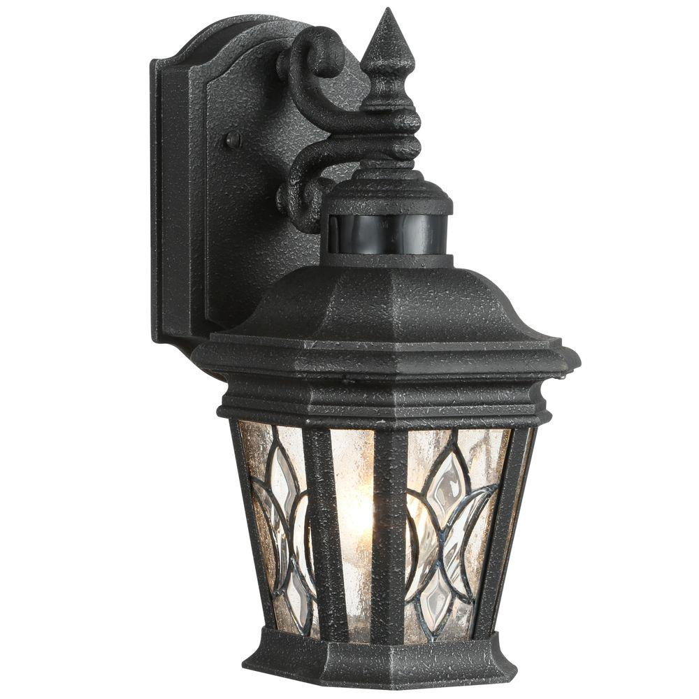 Progress lighting cranbrook collection 1 light outdoor gilded iron progress lighting cranbrook collection 1 light outdoor gilded iron motion sensor wall lantern p5661 71 the home depot aloadofball