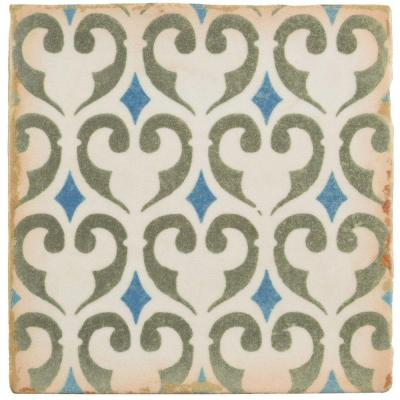 Archivo Khazana Encaustic 4-7/8 in. x 4-7/8 in. Ceramic Floor and Wall Tile (5.84 sq. ft. / case)
