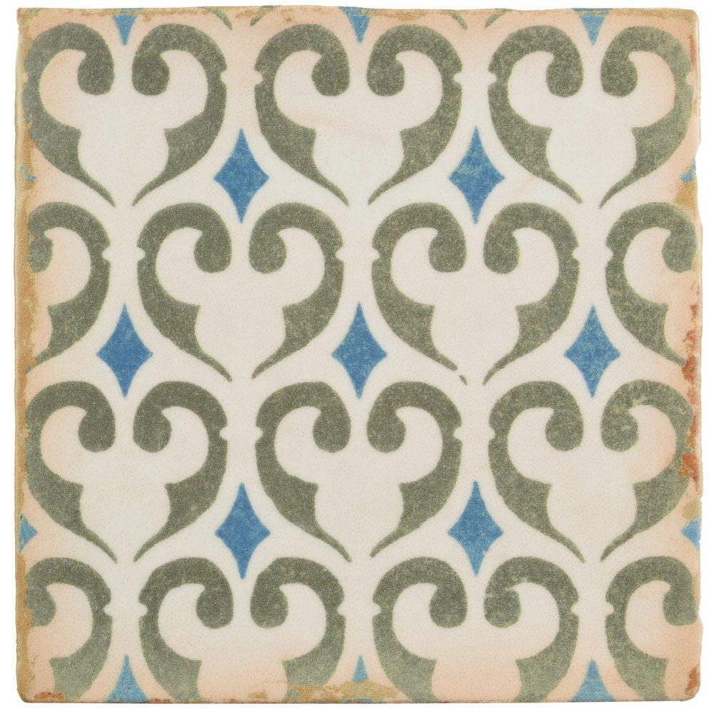 Archivo Khazana Encaustic 4-7/8 in. x 4-7/8 in. Ceramic Floor and Wall Tile (5.84 sq. ft. / case)