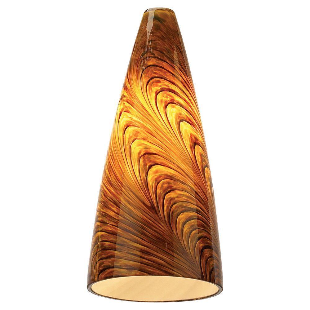 Sea Gull Lighting Ambiance Caramel Swirl Pendant Glass Shade
