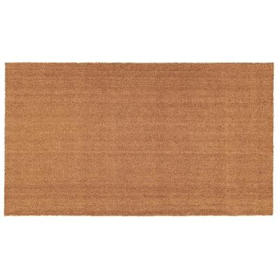 Natural 24 in. x 36 in. Coir and Vinyl Door Mat