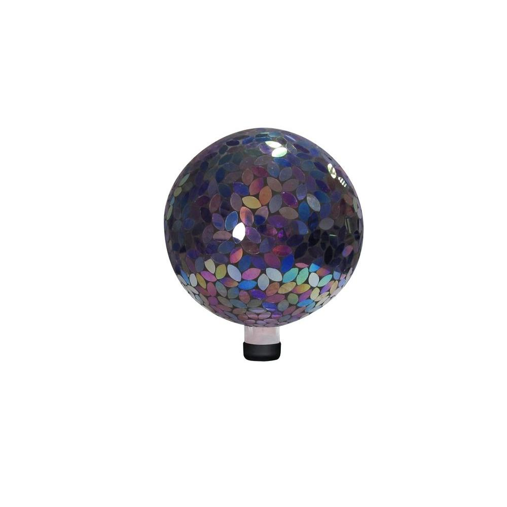 10 in. Purple Mosaic Gazing Ball